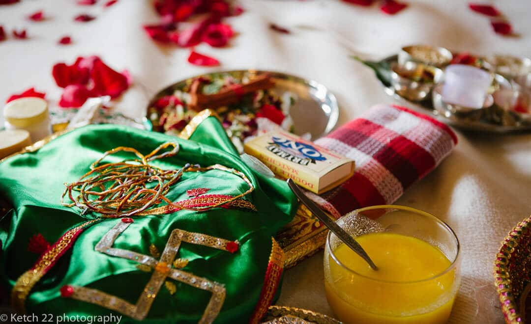 Colourful details from hindu wedding ceremony