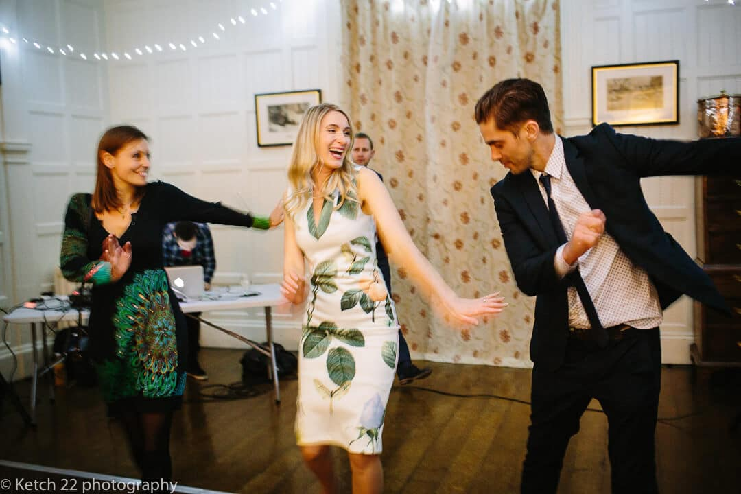 Lively dancing from wedding guests