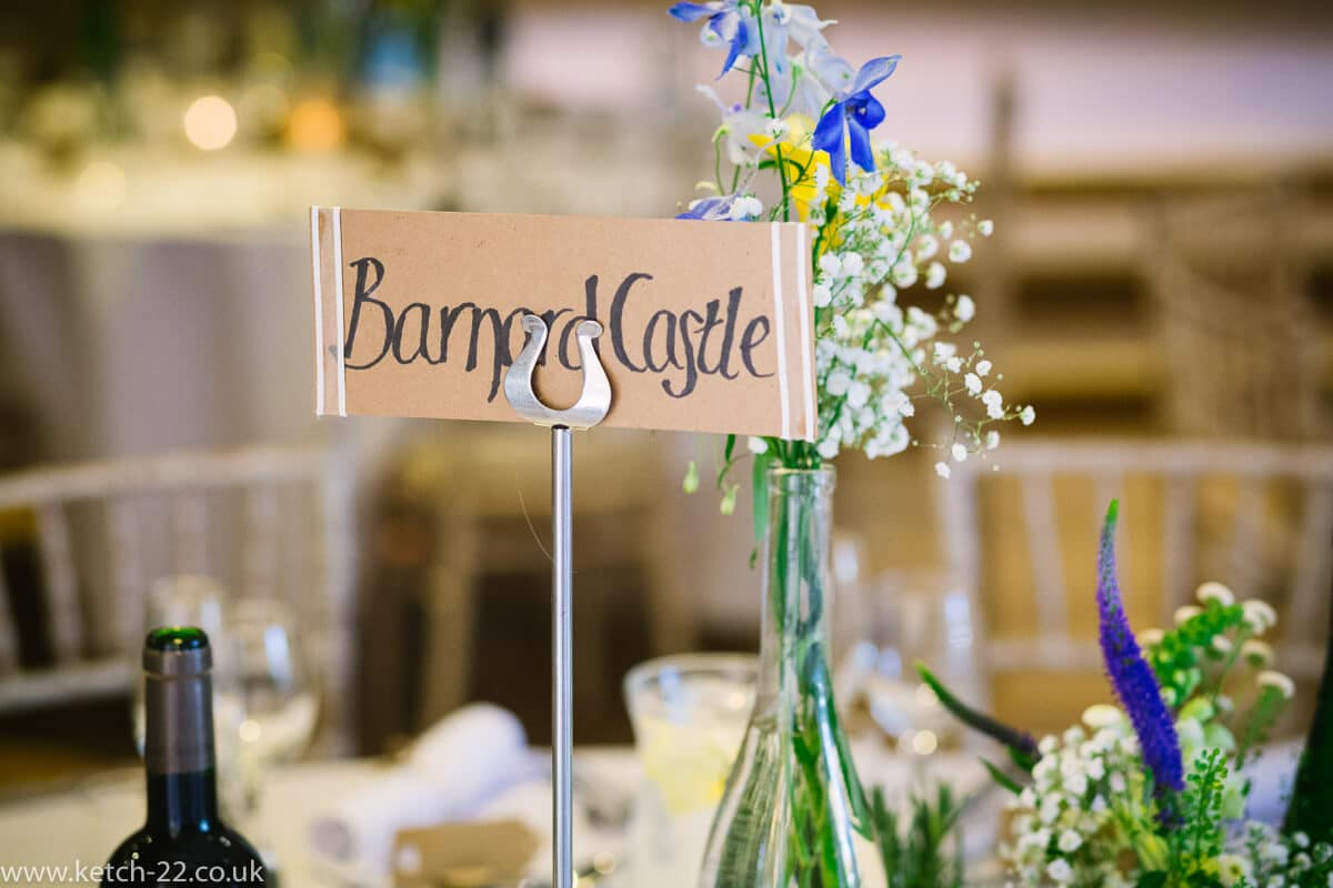 Table details for Weddings at The Great Tythe Barn