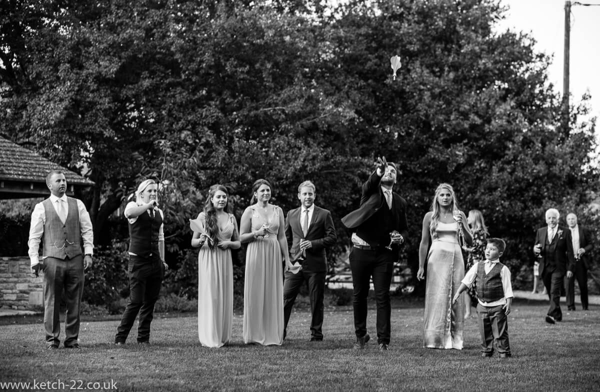 Garden games at summer wedding