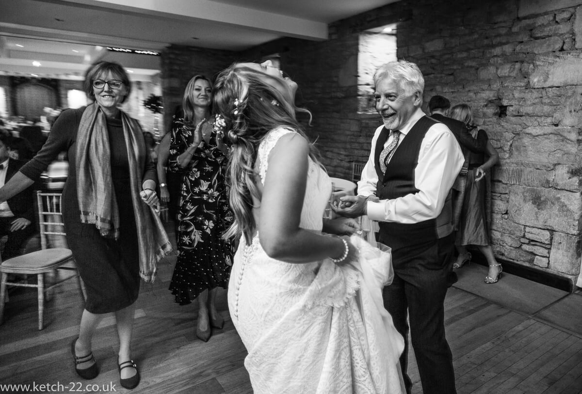 Father of bride dancing with his daughter
