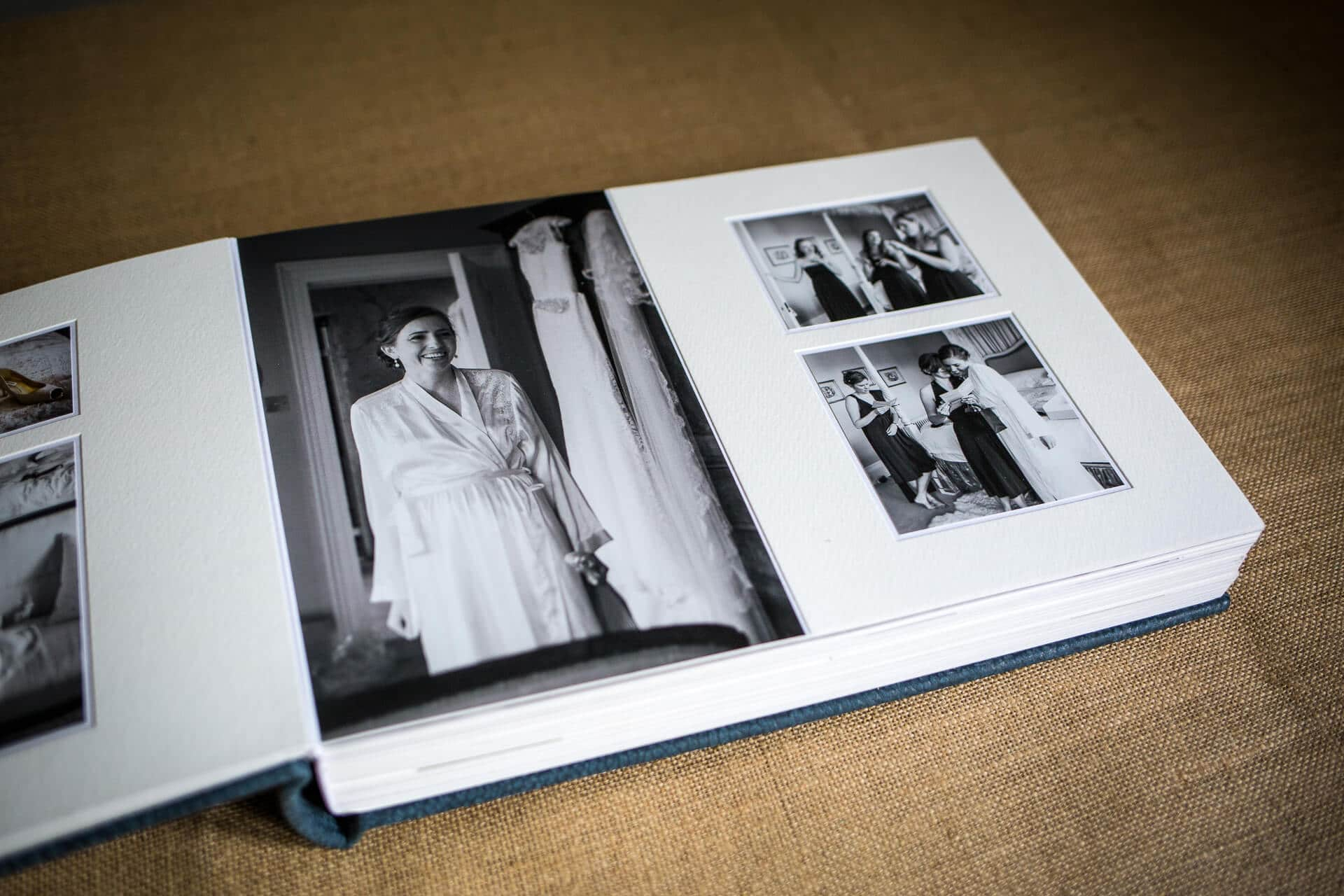 Queensberry wedding album inside pages