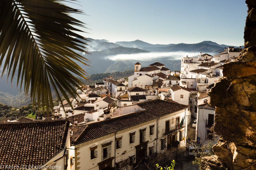 Early morning view of Spanish White village