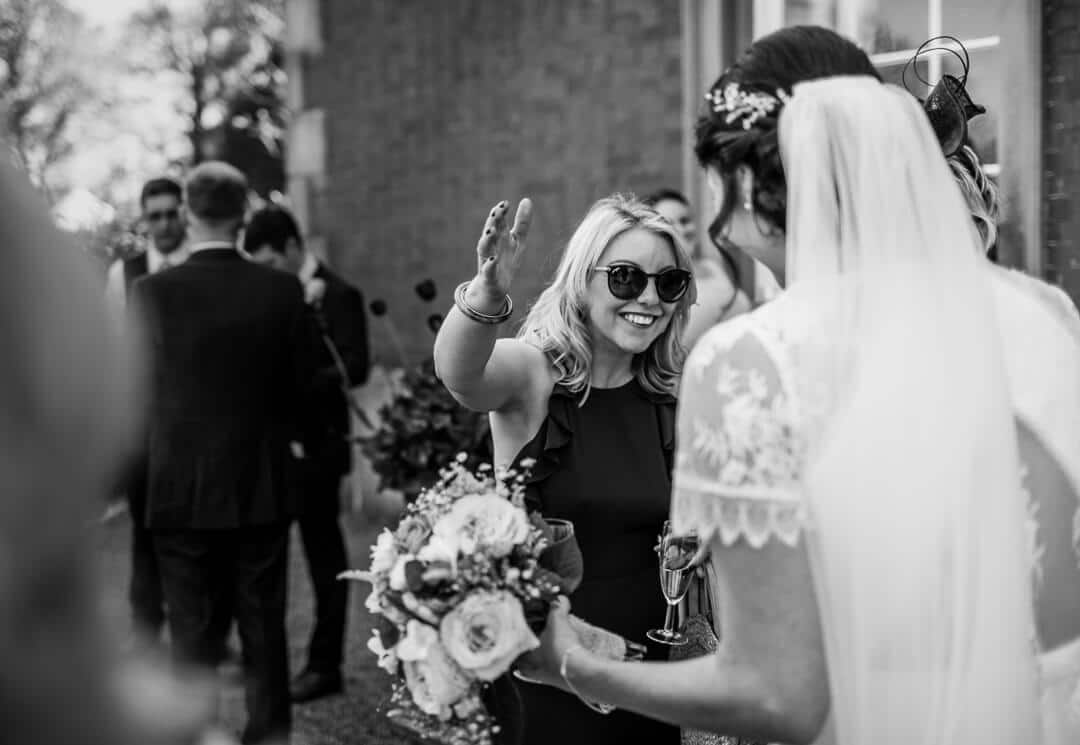 guest greeting bride at Homme House wedding