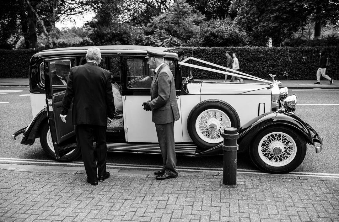 Rolls Royce Wedding car and chauffuer