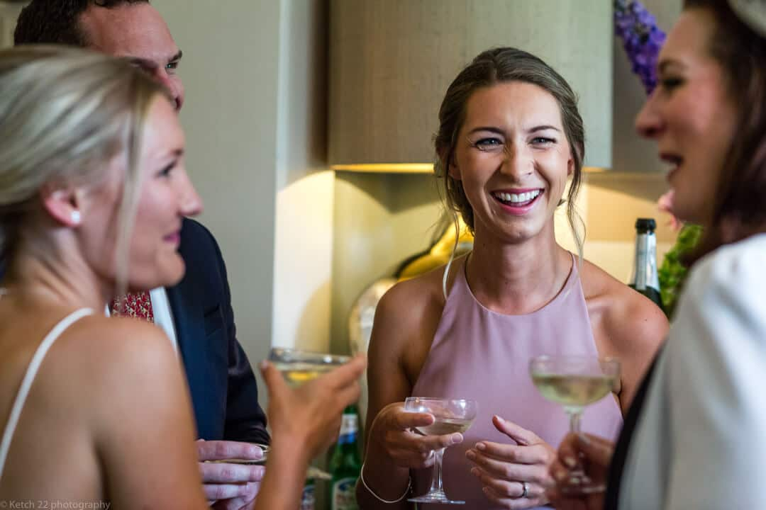 Bridesmaid laughing at No 38