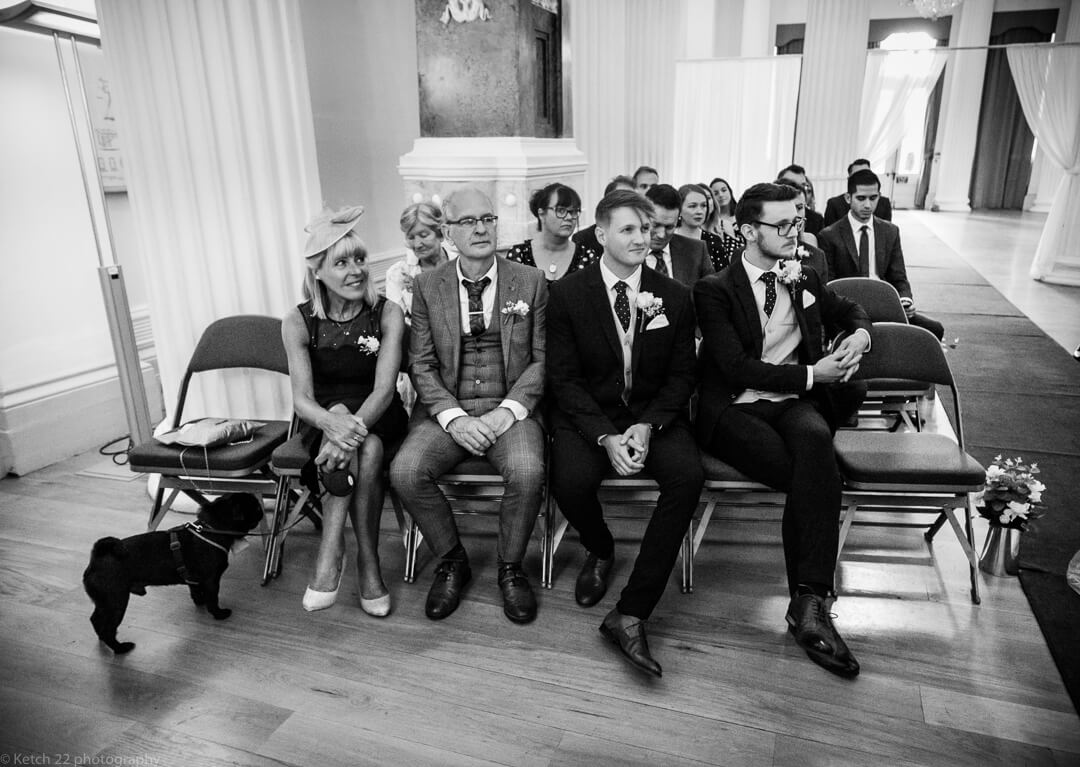 Wedding guests at ceremony Cheltenham