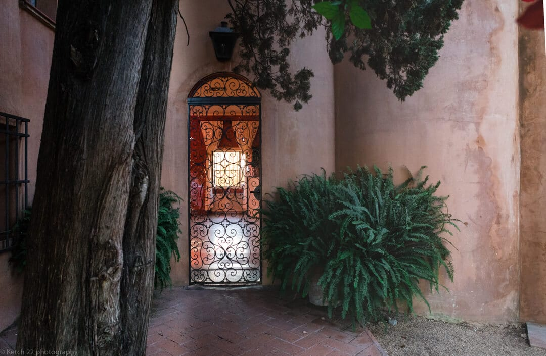 iron worked gate at Malaga Wedding venue