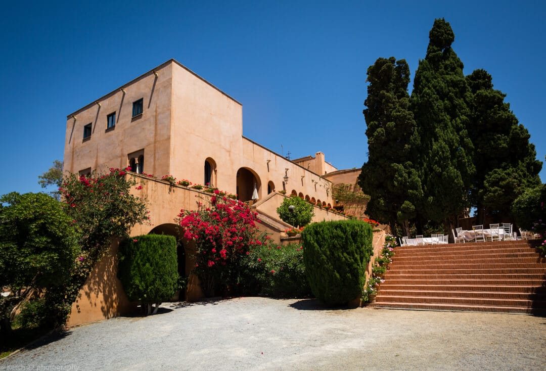 Exterior view of wedding venue in Malaga Spain