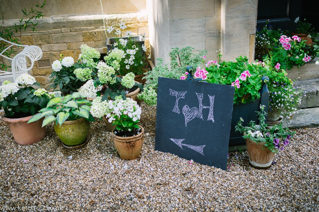 Detail photo from Winchcombe wedding
