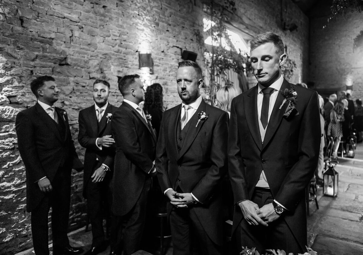 Tense moment as groom waits for bride to walk down aisle