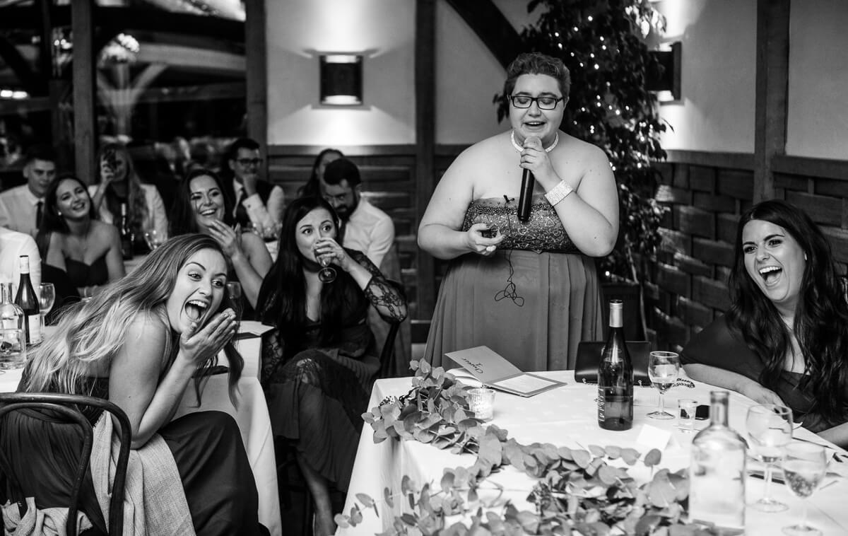 Brides sister makes wedding speech
