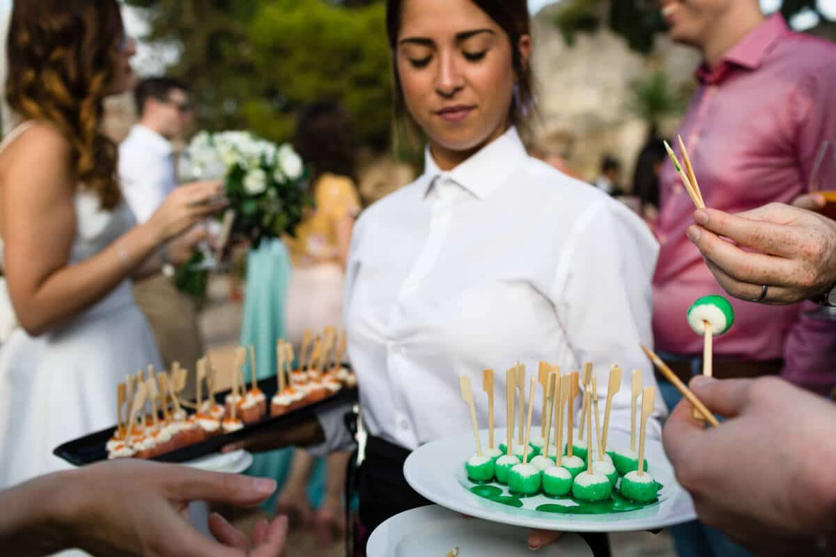 Canapes at Spanish wedding