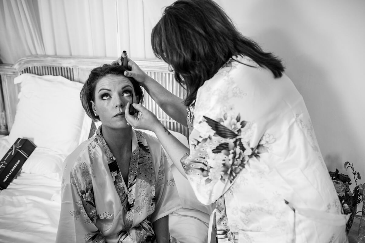 Documentary Wedding photo of Bridesmaid getting ready